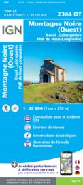 Wandelkaart Montagne Noire (ouest) / Revel / Labrugiere / PNR du Haut Languedoc | Languedoc |  IGN 2344OT - IGN 2344 OT | ISBN 9782758543022