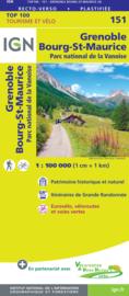 Wegenkaart - fietskaart Grenoble - Mont Blanc- Chambéry - Annecy | Rhône Alps / Haute-Savoie | IGN 151 | ISBN 9782758547655