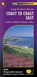 Wandelkaart Coast to Coast path East | Harvey | 1:40.000 | ISBN 9781851374830