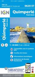 Wandelkaart 0620ET - 0620 ET Quimperlé, Pont-Aven, Tregunc, Bannalec, Clohars-Carnoët | Bretagne