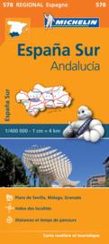 Wegenkaart Andalusië - Malaga - Granada - Sevilla | Michelin 578 | ISBN 9782067184428