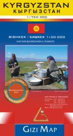 Wegenkaart Kirgistan - Kyrgizië | Gizi Map | 1:750.000 | ISBN 9786155010125