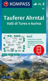 Wandelkaart Tauferer Ahrntal | Kompass 82 | 1:50.000 | ISBN 9783991211297