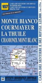 Wandelkaart IGC 107 Monte Bianco, Courmayeur, Chamonix | 1:25.000 | ISBN 9789999971072