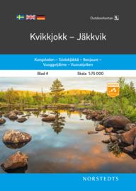 Wandelkaart Kvikkjokk - Jäkkvik outdoor fjall 04 | Norsteds | 1:75.000 | ISBN 9789113105017