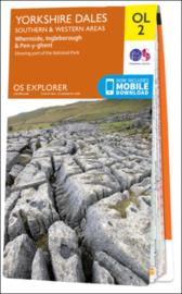 Wandelkaart Yorkshire Dales- South & west Area`s| OL2 Explorer Maps | Ordnance Survey | 1:25.000 | ISBN  9780319263310