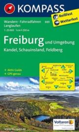 Wandelkaart 889 Freiburg und Umgebung - met stadsplattegrond | 1:50.000 | Kompass 889 | ISBN 9783850268417