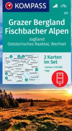 Wandelkaart 221 Grazer Bergland - Fischbacher Alpen | Kompass 221 | 1:50.000 | ISBN 9783990447543