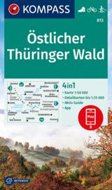 Wandelkaart Östlicher Thüringer Wald   Kompass 813   1:50.000   ISBN 9783990444177