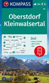 Wandelkaart Oberstdorf , Kleinwalsertal | Kompass 03 | 1:25.000 | ISBN 9783991210320