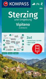 Wandelkaart Sterzing | Kompass 058 | 1:25.000 | ISBN 9783991211198