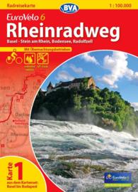 Fietskaart Eurovelo 6 kaart nr. 01. Basel - Radolfzell | 1 : 100 000 | BVA  | ISBN  9783870736132