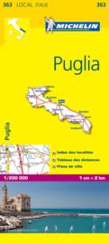 Wegenkaart Puglia nr. 363 | Michelin | 1:200.000 | ISBN 9782067127258