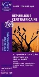 Wegenkaart Centraal Afrikaanse republiek | IGN | 1:1,5 miljoen | ISBN 3282118501113