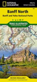 Wandelkaart Banff North National Park | National Geographic 901 | ISBN 9781566956598