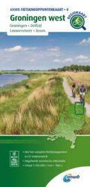 Fietskaart Groningen West  | ANWB fietsknooppuntenkaart 4 | 1:100.000 | ISBN 9789018046774