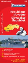 Wegenkaart Slowakije | Michelin 11756 | 1:500.000 | ISBN 9782067173019