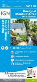 Wandelkaart 0617OT - 0617 OT Huelgoat, Monts d´Arrée, PNR d´Armorique, Plonevez - du - Faou | Bretagne | ISBN 9782758545156