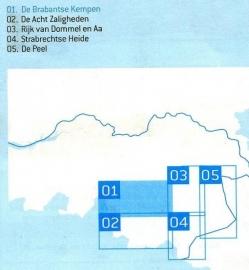 Wandelkaart De Brabantse Kempen met Landgoed de Utrecht nr. 01   Falk   ISBN 9789028726949