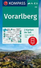 Wandelkaart Vorarlberg | Kompass 292 | 1:50.000 | ISBN 9783991210894