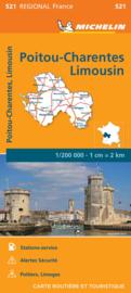 Wegenkaart - Landkaart Poitou Charentes 2020 | Michelin 17521 | 1:200.000 | ISBN 9782067243842