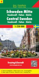 Wegenkaart Zweden nr. 4 | Freytag & Berndt Zweden Midden | ISBN 9783707903218
