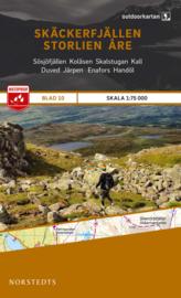 Wandelkaart Skäckerfjällen-Storlien-Åre | Norsteds 10 | 1:75.000 | ISBN 9789113068237
