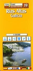 Wegenkaart - Fietskaart Rias Altas- Galicia | GeoEstel  No. T019 | 1:150.000 | ISBN 9788495788344