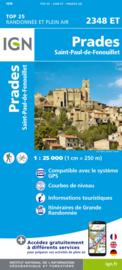 Wandelkaart Prades, Sournia, Vinca, St.Paul-de-Fenouillet | Pyreneeën |  IGN 2348ET - IGN 2348 ET | ISBN 9782758545361