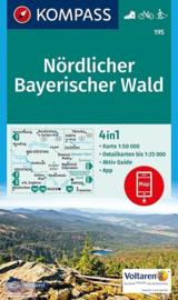 Wandelkaart Nördlicher Bayerischer Wald | Kompass 195 | 1:50.000 | ISBN 9783990443071