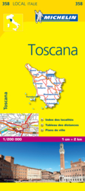 Wegenkaart - Fietskaart Michelin Toscane 358 | 1:200.000 | ISBN 9782067127203