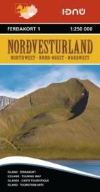 Wegenkaart Nordvesturland - Noordwest IJsland | Ferdakort nr. 1| 1:250.000 | ISBN 9789979674214