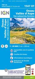Wandelkaart Ossau, Vallée D`Aspe, Les Eaux Chaudes, Urdos |  Pyreneeën | IGN 1547OT - IGN 1547 OT | ISBN 9782758551522