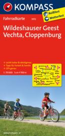 Fietskaart Wildeshauser Geest, Vechta , Cloppenburg    Kompass 3012   1:70.000   ISBN 9783850265515