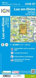 Wandelkaart Luc-en-Diois, Valdrôme, Col de Cabre | Drome | IGN 3238OT - IGN 3238 OT | ISBN 9782758539827