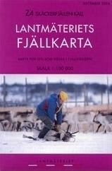 Wandelkaart Skäckerfjällen - Kall Fjällkarta | Lantmateriet Z4 | ISBN 9789158895331