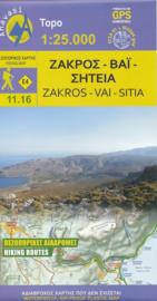 Wandelkaart Zakros - Vai - Kreta | Anavasi 11.16 | 25.000 | ISBN 9789608195707