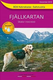 Wandelkaart Kebenekaise : Saltoluokta Fjällkarta | Lantmateriet BD08 | ISBN 9789158895867