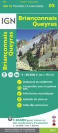 Wandelkaart - Fietskaart Briançonnais – Queyras |  IGN TOP 75 nr. 5 | ISBN 9782758532699