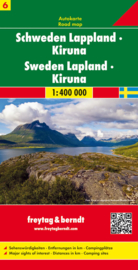 Wegenkaart Zweden nr. 6 | Freytag & Berndt Zweden Lapland | ISBN: 9783707904703