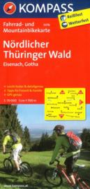 Fietskaart Nördlicher Thüringer Wald | Kompass 3076 | 1:70.000 | ISBN 9783850263047