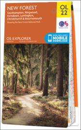 Wandelkaart New Forest | Ordnance Survey OLM 22 | ISBN 9780319263921