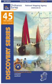 Wandelkaart Ordnance Survey / Discovery series | Galway 45 | ISBN 9781907122866