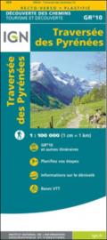 Wandelkaart GR10 - Traverse over de Pyreneeën - Franse zijde | IGN | 1:100.000 | ISBN 9782758551294