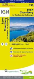 Wegenkaart - fietskaart Lyon - Chambery | Rhône Alps | IGN 150  | ISBN 9782758540847