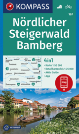 Wandelkaart Nördlicher Steigerwald - Bamberg | Kompass 167 | 1:50.000 | ISBN 9783990446027