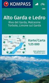 Wandelkaart Alto Garda di Ledro | Kompass 690 | 1:25.000 | ISBN 9783990443415