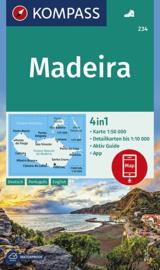 Wandelkaart Madeira | Kompass 234 | 1:50.000 | ISBN 9783990446508