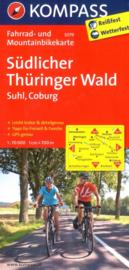 Fietskaart Südlicher Thüringer Wald | Kompass 3079 | 1:70.000 | ISBN 9783850263061