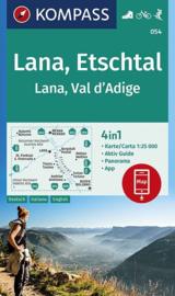 Wandelkaart Lana - Etschtal | Kompass 054 | 1:25.000 | ISBN 9783990446201